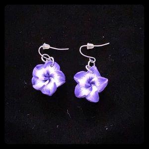 Jewelry - Violet Flower Earrings